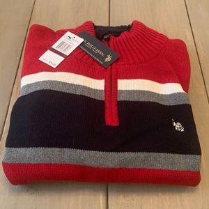 US Polo Assn. Qtr. zip Pullover Sweater Mens XL